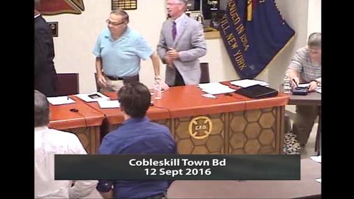 Cobleskill Town Bd -- 12 Sept 2016