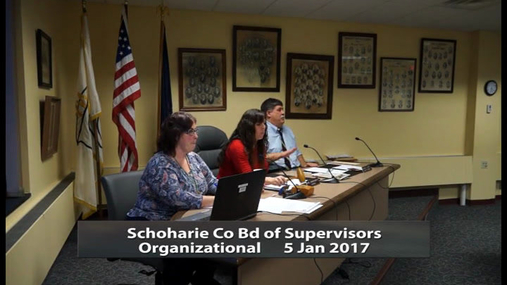Schoharie Co Bd of Supervisors Organizational -- 5 Jan 2017