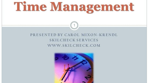EST - Time Management