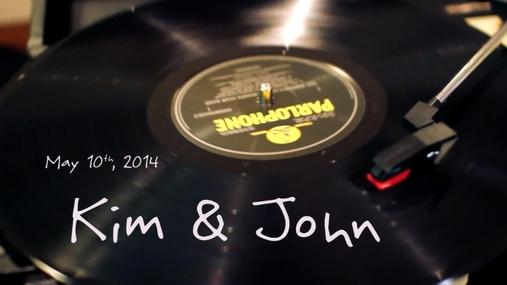 Kim and John