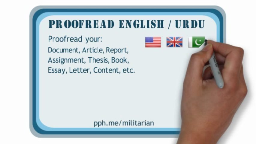 proofread English or Urdu document