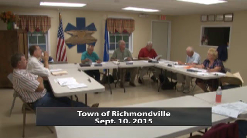 Richmondville Town Bd 10 Sept. 2015