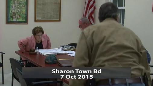Sharon Town Bd 7 Oct 2015 Pt.1
