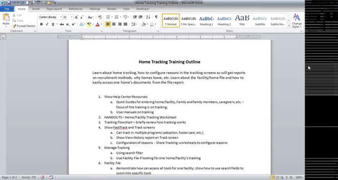 Free Training Friday 2014-02: Home Tracking Status & Reasons Reports