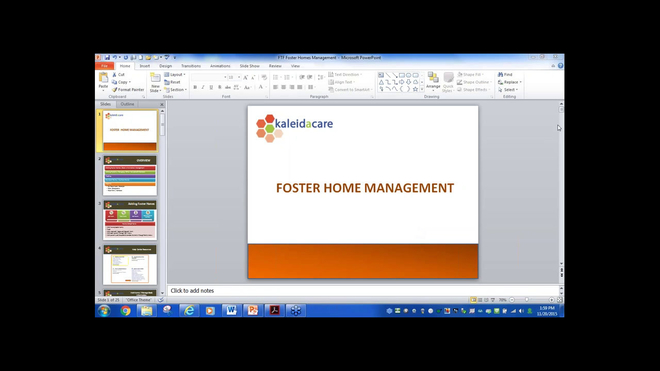 Free Training Friday 2015-11: Foster Home Management