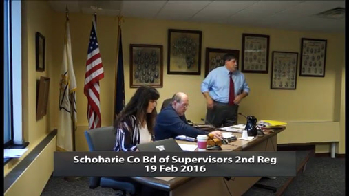 Schoharie Co Bd of Supervisors 2nd Reg -- Feb 9 2016