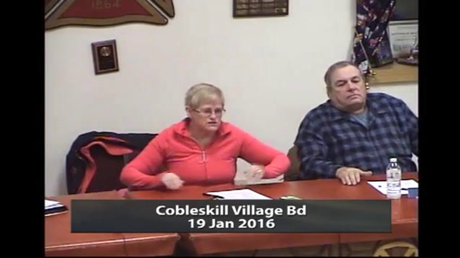 Cobleskill Village Bd -- 19 Jan 2016