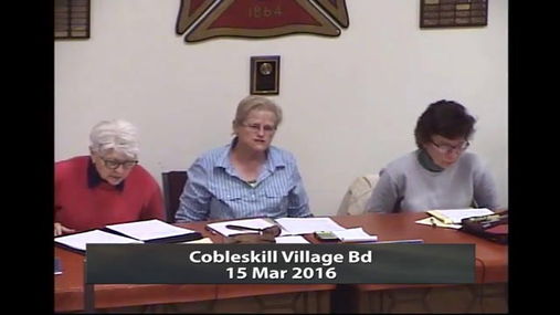 Cobleskill Village Bd -- 15 Mar 2016