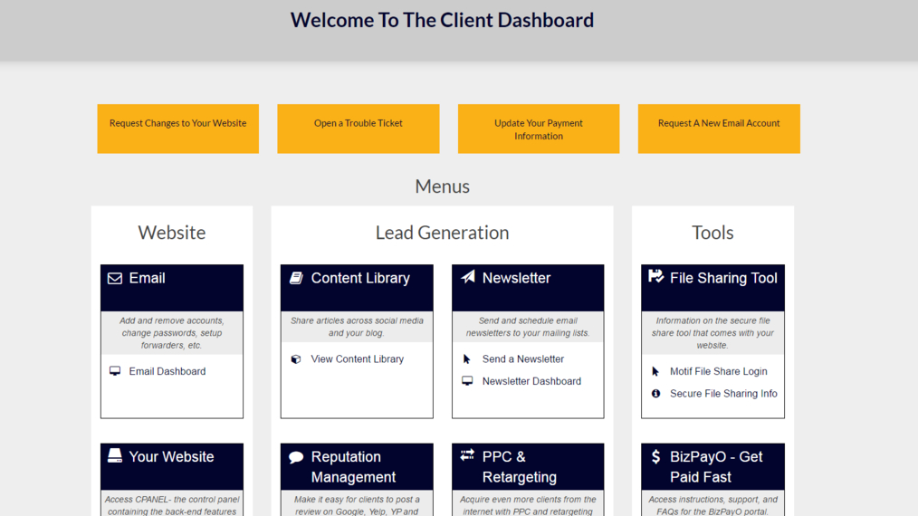 Client Dashboard Overview