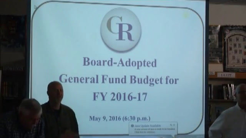Cobleskill-Richmondville BOE -- May 9 2016