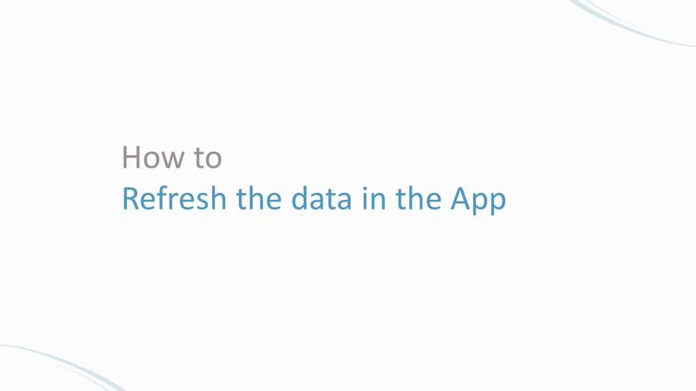 Do a data refresh | how to