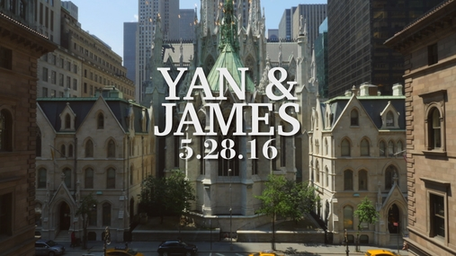 Yan and James WeddingGram