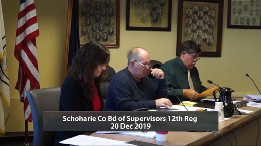 Schoharie Co Bd of Supervisors 12th Reg -- 20 Dec 2019