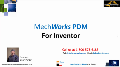 MechWorks PDM for Inventor Tutorial - Introduction Demo