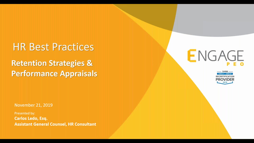 November 2019 Webinar - Retention Strategies & Performance Appraisals