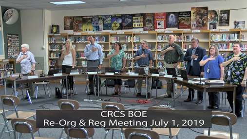CRCS BOE & Re-Org Meeting -- July 1, 2019
