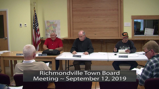 Richmondville Twn Brd -- Sept 12, 2019