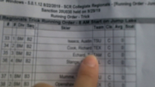 Richard Cook BM Round 1 Pass 1