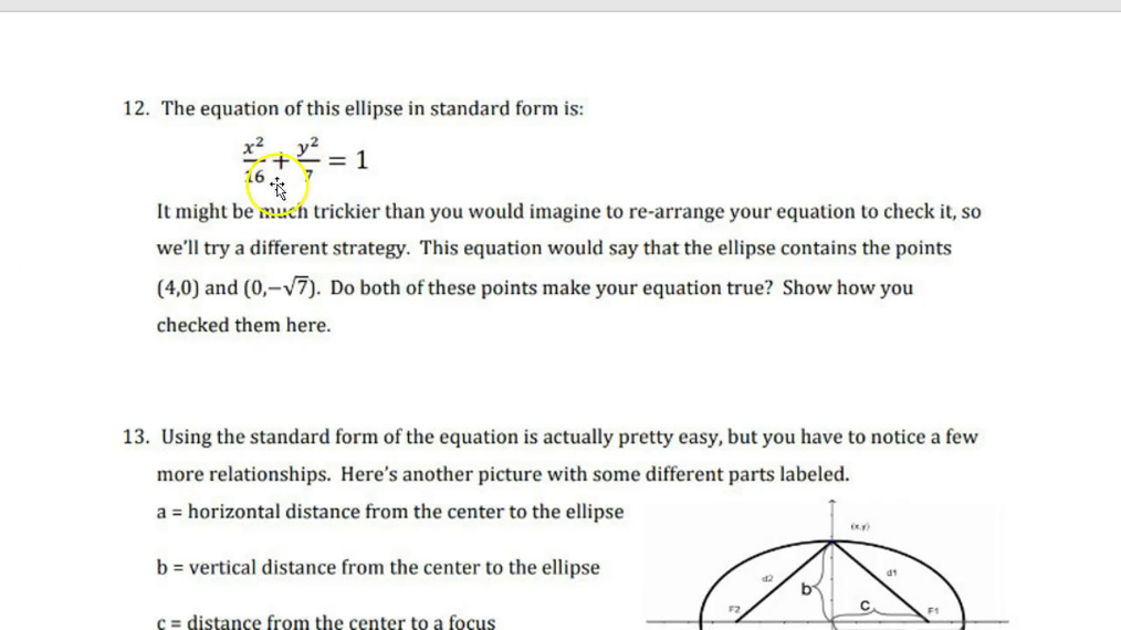 Precalc Defining Ellipses Guided Notes Part 2.mp4
