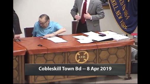 Cobleskill Town Bd -- 8 Apr 2019