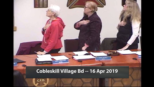 Cobleskill Village Bd -- 16 Apr 2019