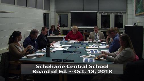 SCS BOE -- Oct., 18, 2018