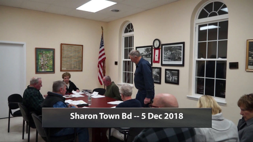 Sharon Town Bd -- 5 Dec 2019