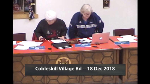 Cobleskill Village Bd -- 18 Dec 2018