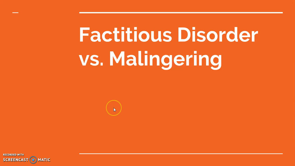 Factitious Disorder vs. Malingering.mp4