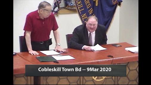 Cobleskill Town Bd -- 9 Mar 2020