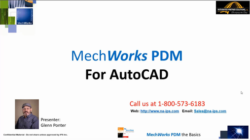 MechWorks PDM for AutoCAD Tutorial - Introduction Demo