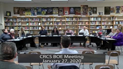 CRCS BOE -- Jan. 27,2020