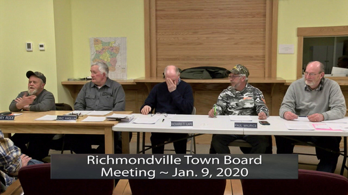 Richmondville Twn. Board -- Jan. 9, 2020