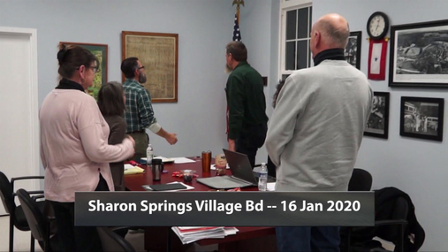 Sharon Springs Village Bd -- 16 Jan 2020