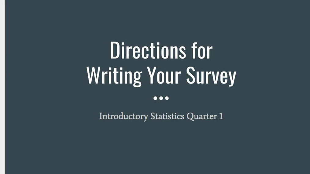NEW Step 2 - Writing Your Survey.mp4