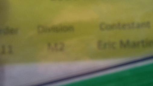 Eric Martin M2 Round 1 Pass 1