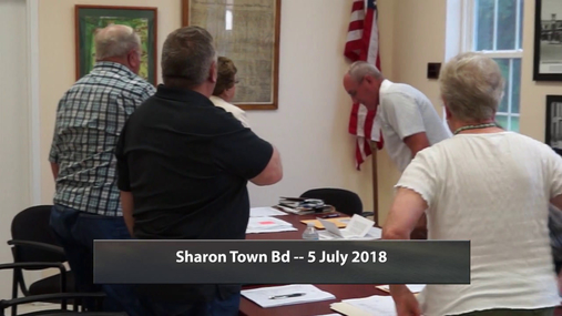Sharon Town Bd -- 5 July 2018