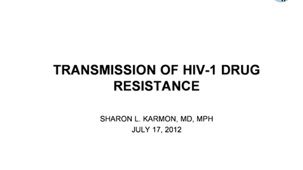 Transmission of HIV-1 Drug Resistance