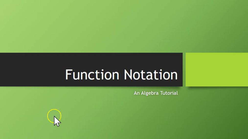 Function Notation SMIII