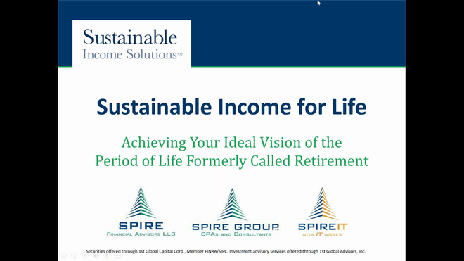 Sustainable Income for Life: Enjoying Your Retirement Years