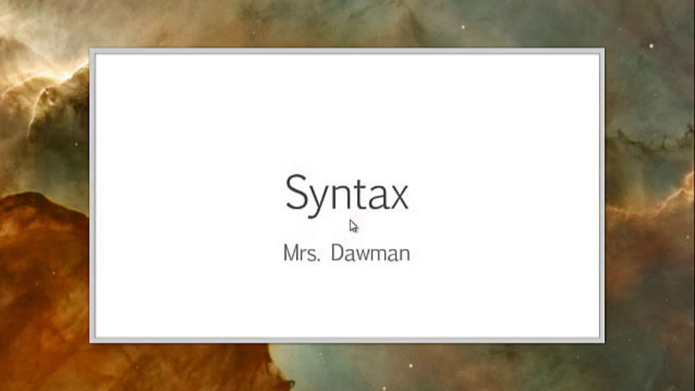 ENG 11-Syntax