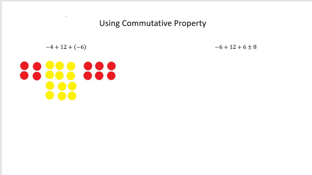 Math 7 Using Commutative Property of Addition