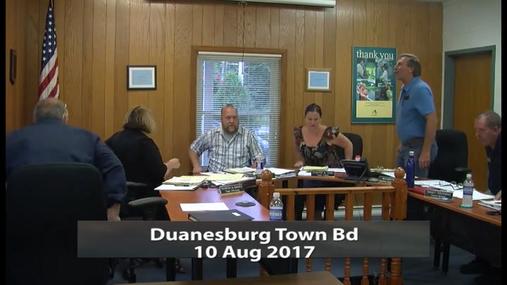Duanesburg Town Bd -- 10 Aug 2017
