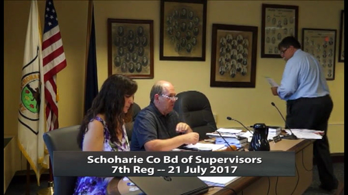 Schoharie Co Bd of Supervisors_7th Reg -- 21 July 2017