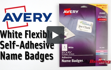 avery 2 1 3 x 3 3 8 white flexible self adhesive name badge labels