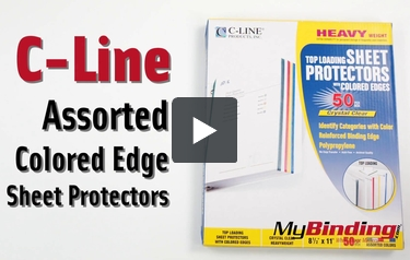 C-Line Assorted Colored Edge Sheet Protectors - 50pk