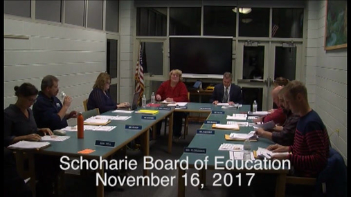 Schoharie Bd of Ed -- 16 Nov 2017