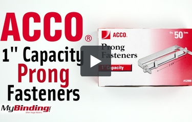 "2.75/"" Centers,50 Complete Sets per Box ACCO 1 Inch Capacity Prong Fastener Set"