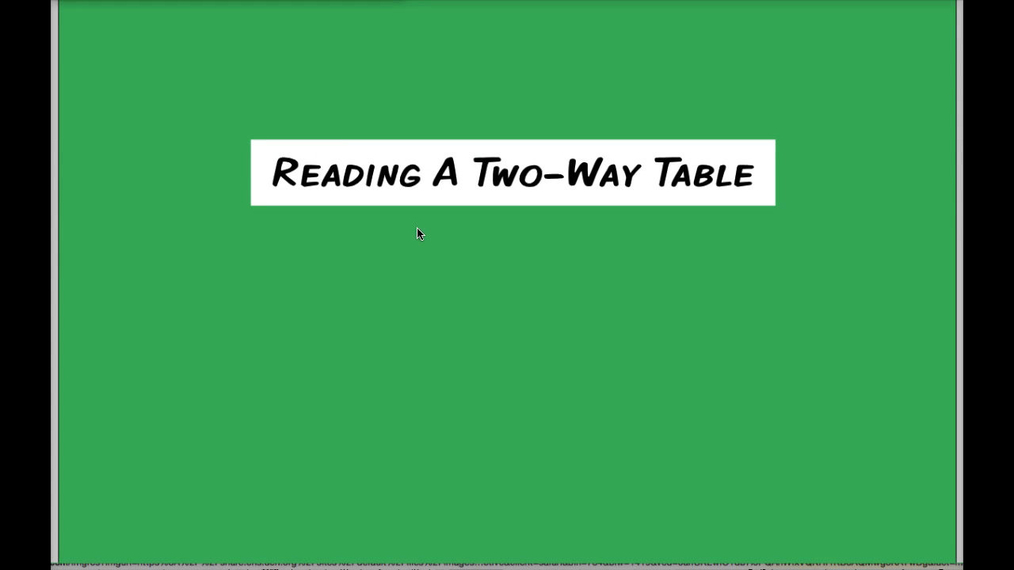 Math 8 Q2 Unit 5 Reading A Two-Way Table.mp4