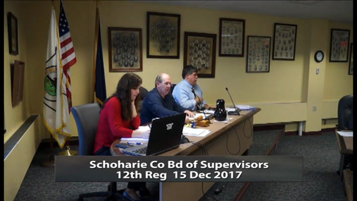 Schoharie Co Bd of Supervisiors -- 12th Reg -- 15 Dec 2017